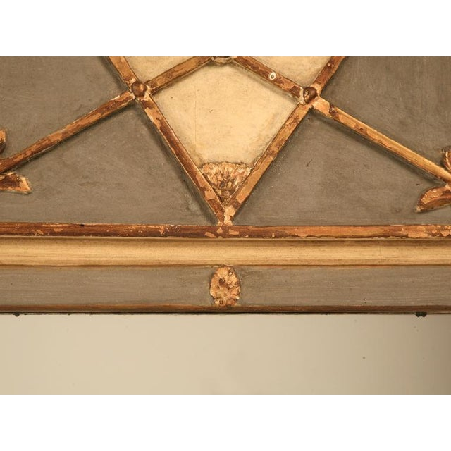 French Antique Diamond & Crossed Arrows French Directoire Mirror For Sale - Image 3 of 10