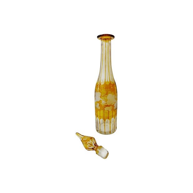 Bohemian Overlay Crystal Decanter For Sale In New York - Image 6 of 7