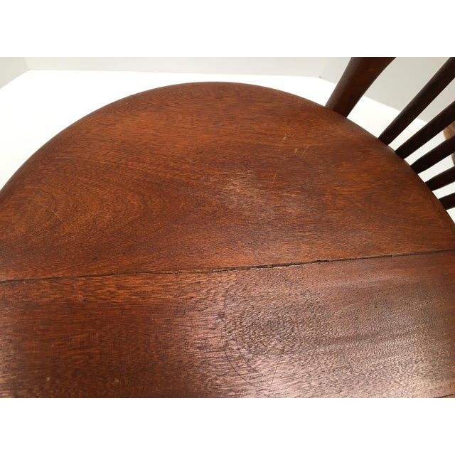 1920s Antique Victorian High Back Swivel Piano Stool For Sale - Image 5 of 8