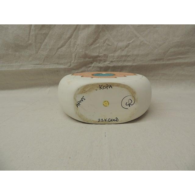 Southwestern Round Ceramic Vase - Image 5 of 5