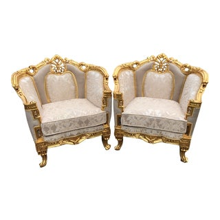 Vintage 1900's French Louis XVI Pair of Chairs- A Pair For Sale