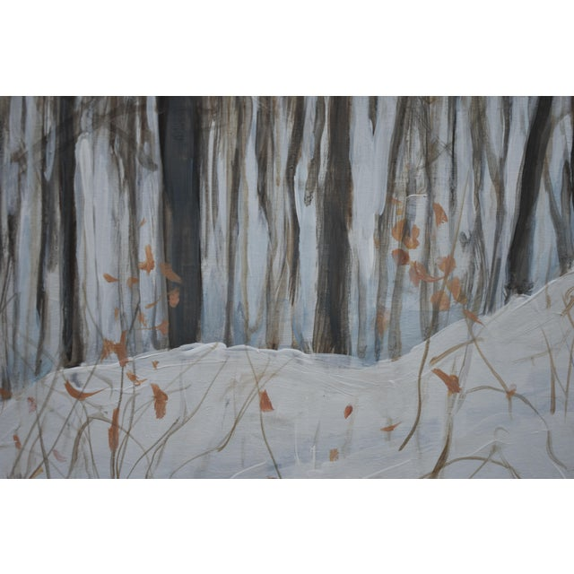 "2020s Stephen Remick ""Snowy Mountains Through Bare Trees"" Contemporary Landscape Painting For Sale - Image 5 of 12"