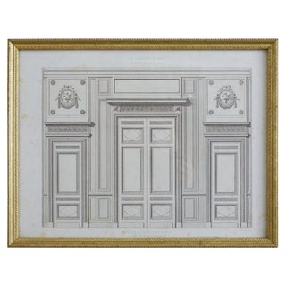 Louis XVI Architectural Print Plate by Rouyer For Sale