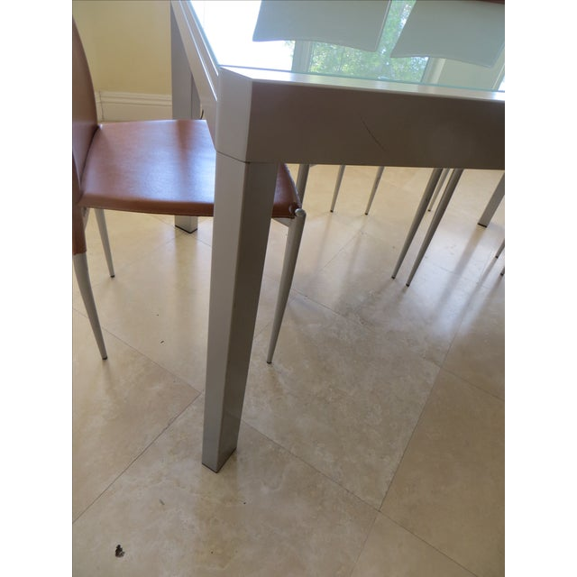 Calligaris Extendable Tempered Glass Dining Set - Image 6 of 11