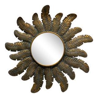Spanish Sunburst Wall Mirror For Sale
