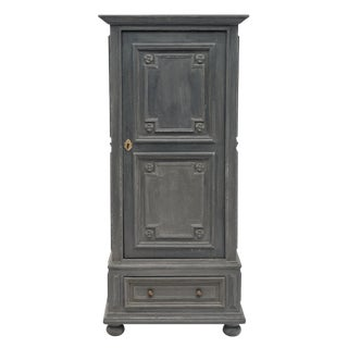 Louis XIV Style Gray Painted Bonnetiere For Sale