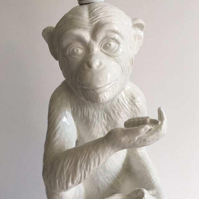 Vintage Ceramic Monkey Lamp - Image 8 of 10