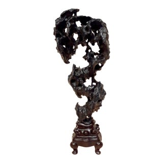 Chinese Lingbi Dragon Form Tou and Lou Qualities Gongshi Sculpture For Sale