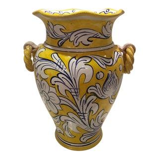 Cristina Caltagirone Italian Hand Painted Floor Vase
