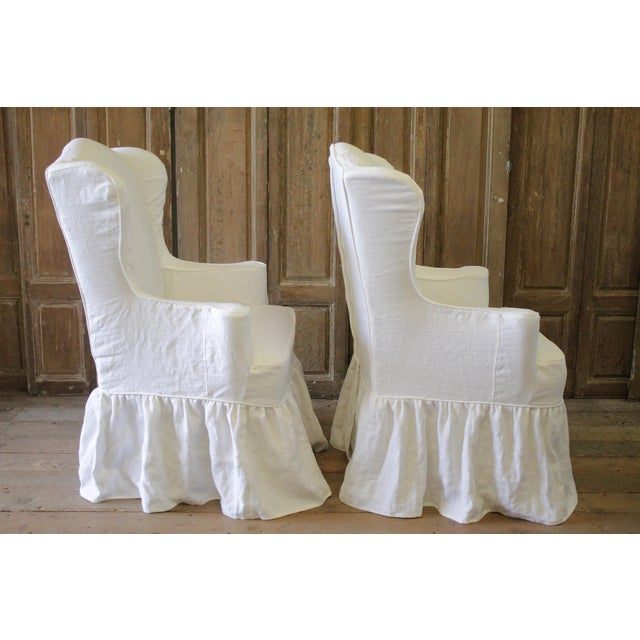 Wingback Chair Covers Linen Design : The Creative Room ...