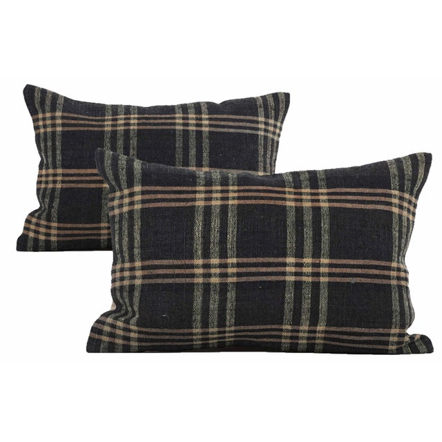 2010s Vintage Ralph Lauren-Style Pillows - a Pair For Sale - Image 5 of 5