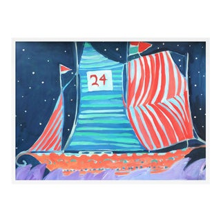 SB Wax Cay by Lulu DK in White Framed Paper, Large Art Print For Sale