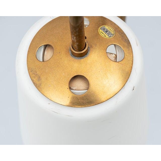 Gold Elegant Floor Lamp by Stilnovo, Italy, 1960s For Sale - Image 8 of 9