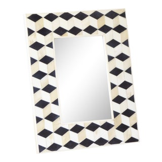 Vintage Morrocan Style Tozai White Bone & Ebony Picture Frame For Sale