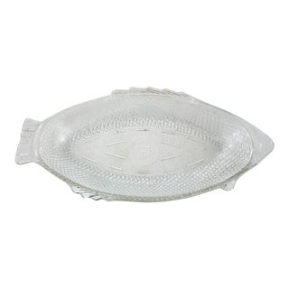 Vintage Glass Fish Platter