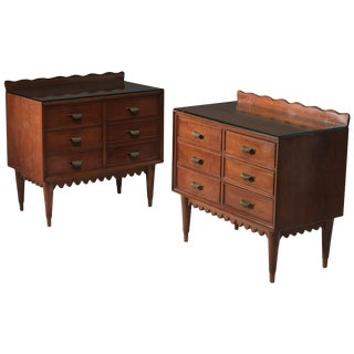Pair of Wood Nightstands by Fratelli Barni For Sale