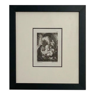 Late 18th Century Rembrandt Etching #8, by Francesco Novelli For Sale