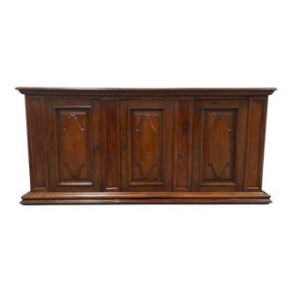 Italian Walnut Credenza Sideboard Buffet - 18th C For Sale