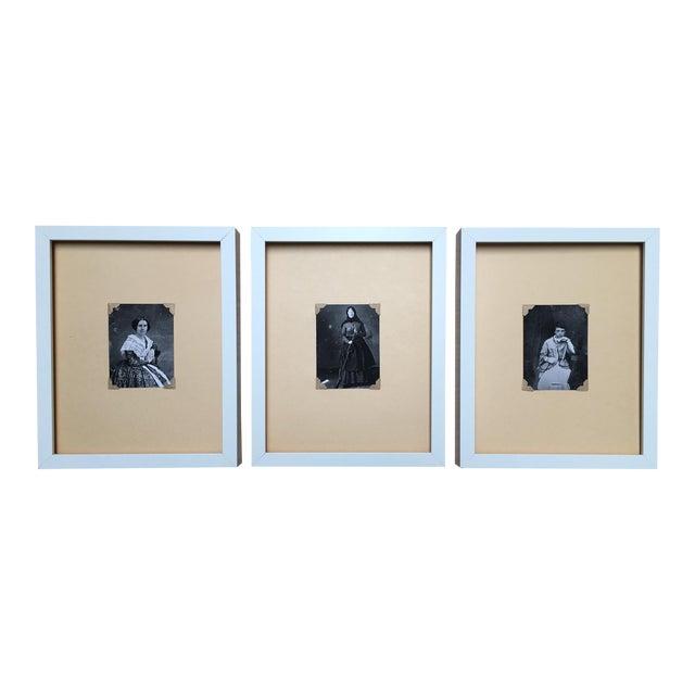 Vintage Framed Daguerreotype Prints - Set of 3 - Image 1 of 7