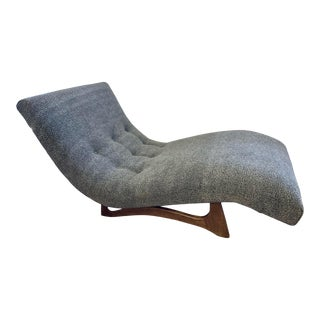 Mid-Century Adrian Pearsall Wave Lounge Chaise Donghia Grey Boucle For Sale