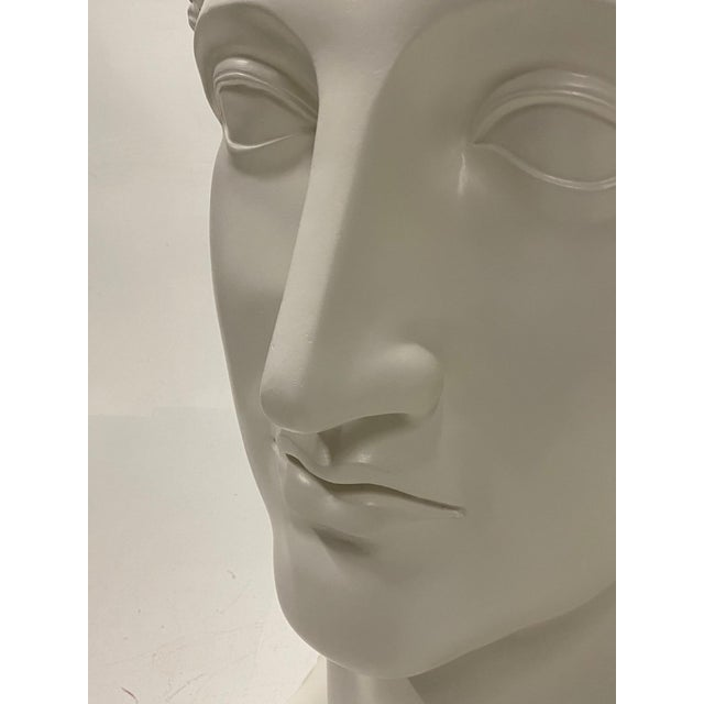 Romantic Fiberglass Bust of Diana, Sculpture For Sale - Image 9 of 13