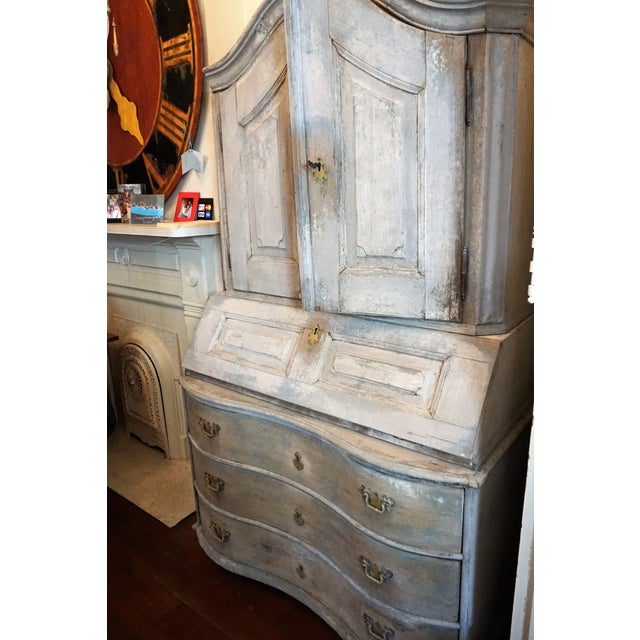 Swedish Gustavian Painted Secretaire For Sale - Image 11 of 12