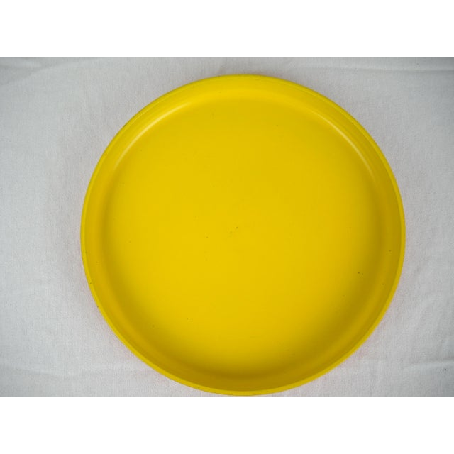 Op Art Yellow Orange Serving Tray For Sale - Image 4 of 9