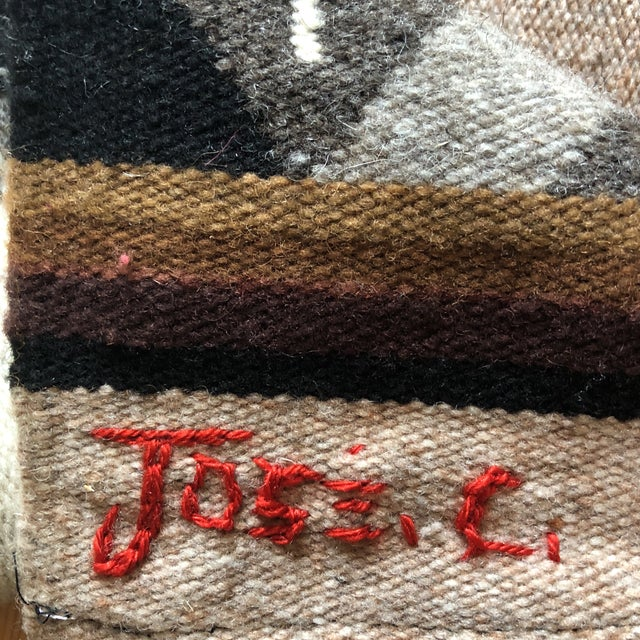 1980s Modernist Reptile Handwoven Tapestry For Sale - Image 10 of 11