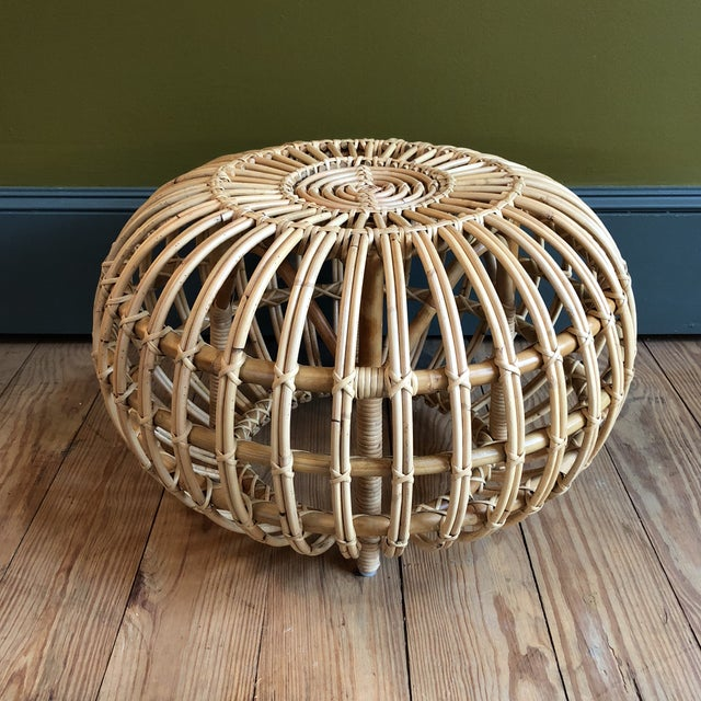 Franco Albini Small Rattan Ottoman - Image 8 of 8