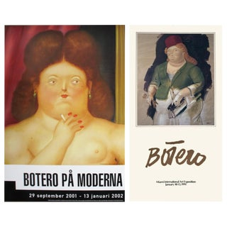 Bundle- 2 Assorted Fernando Botero Exhibition Posters For Sale