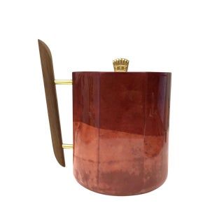 Aldo Tura Lacquered Goatskin Ice Bucket For Sale