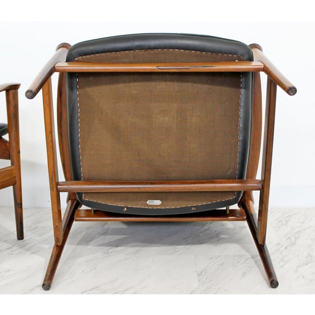 Mid Century Modern Pair Model 711 Easy Chairs Fredrik Kayser Vatne Mobler 1960s - Image 8 of 11
