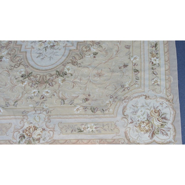 "Vintage French Aubusson Needlepoint Rug - 7' 8"" X 9'11"" - Image 3 of 11"