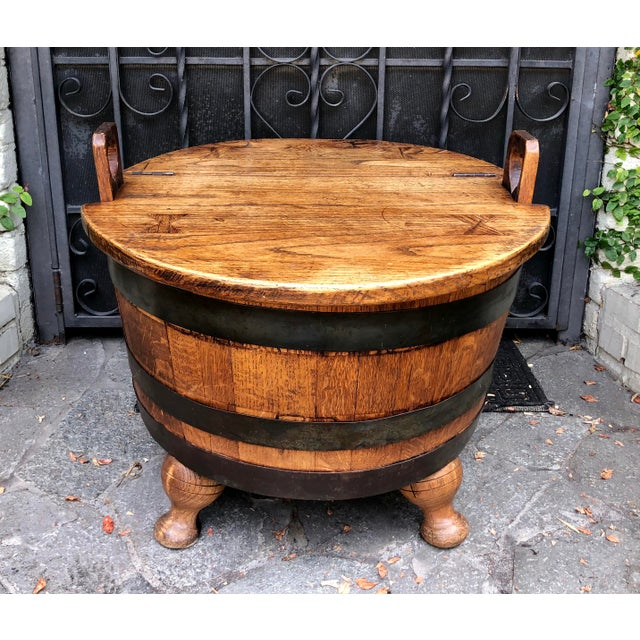 Antique American Wine Cellarette / End Table W Bow-Tie Inlay For Sale In Los Angeles - Image 6 of 6