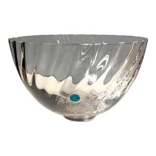 Tiffany & Co. Swirl Ribbed Crystal Bowl