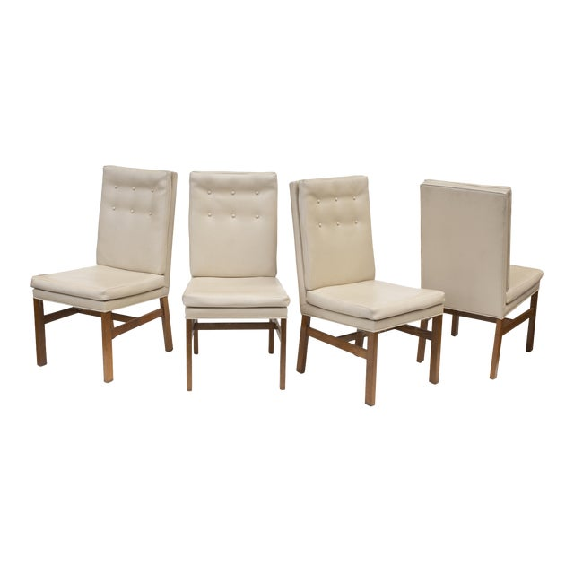 Johnson Furniture Tufted Dining Chairs - Set of 4 For Sale