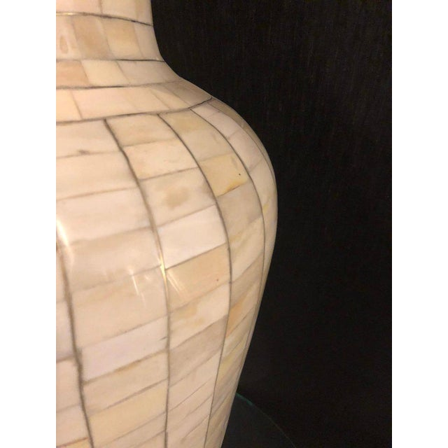 Beautiful Antique Natural Bone Over Brass Urn For Sale - Image 10 of 12
