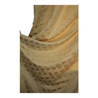 Vintage French Silk Shimmering Silvery Gold Tones Curtains For Sale