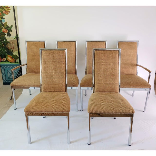Baughman Weiman Dia Style Chrome Frame Dining Chairs - Set of 6 For Sale - Image 11 of 12