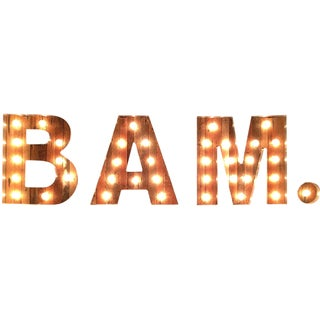 Bam Marquee Light by Scott Coppersmith