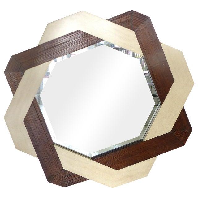 Interlocking Two-Tone Mirror - Image 1 of 6