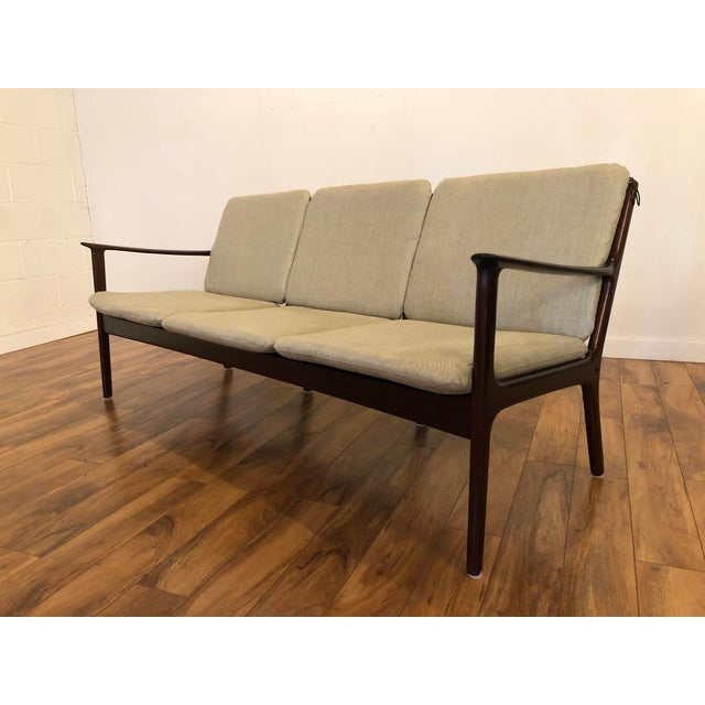 Vintage Mid Century Modern Sofa by Ole Wanscher for Poul Jeppesen For Sale - Image 9 of 13