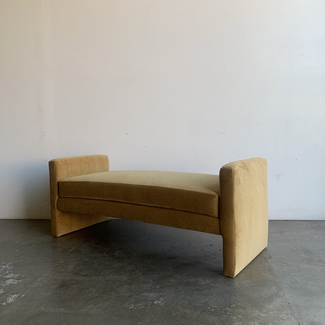 Post Modern Bench- Mustard For Sale In Los Angeles - Image 6 of 13