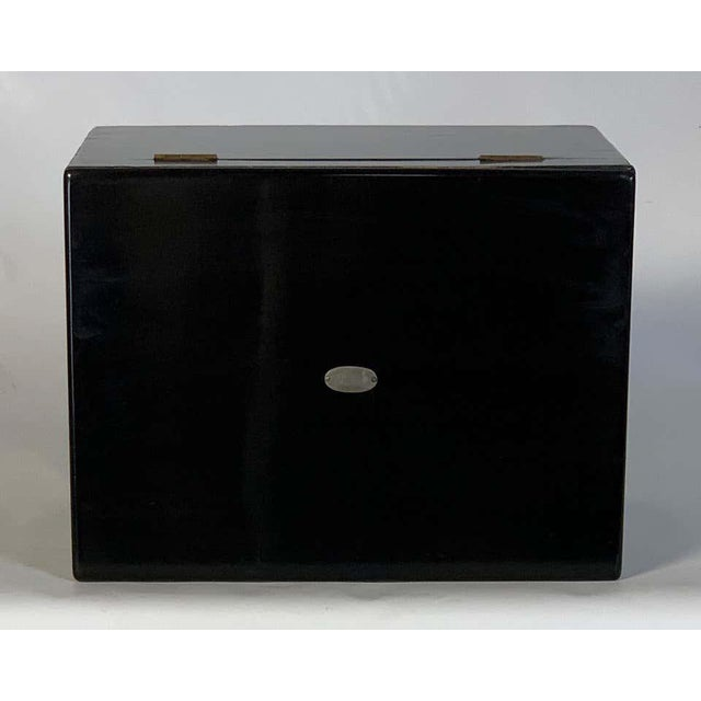 Ebony Chinese Export Cigar Humidor For Sale - Image 8 of 13