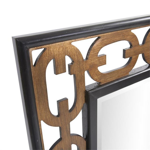 Kenneth Ludwig Chicago Kenneth Ludwig Chicago Chain Link Mirror For Sale - Image 4 of 8