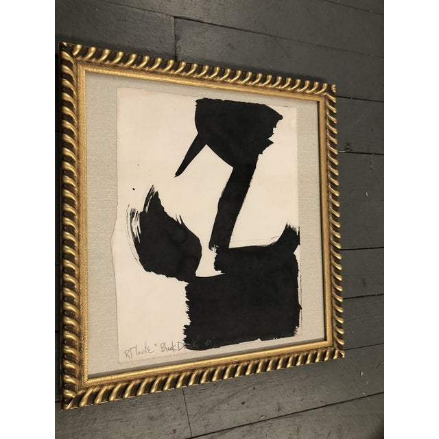 """Abstract Original Vintage Robert Cooke Abstract """"Black Duck"""" Painting For Sale - Image 3 of 5"""