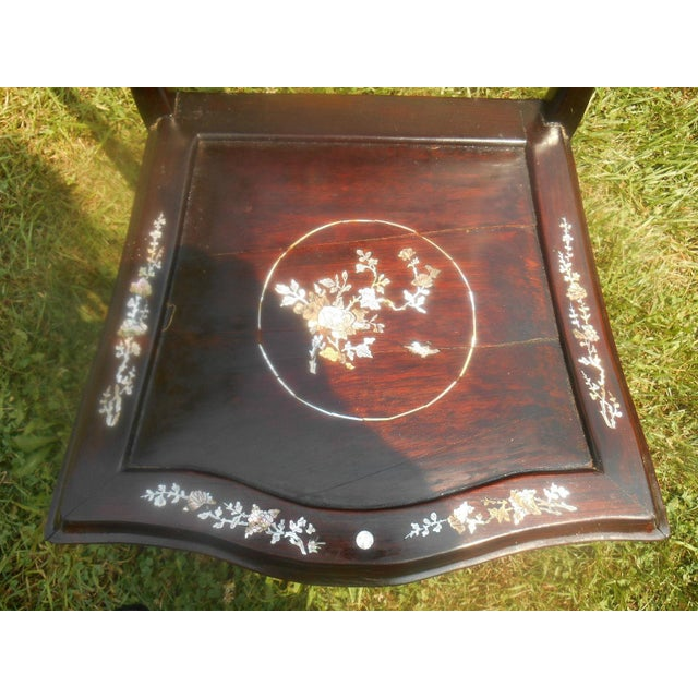 Mother of Pearl Inlay Asian Dining Set - Image 11 of 11