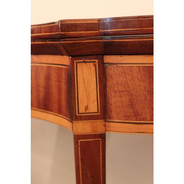Federal 19th Century Federal Style Game Table For Sale - Image 3 of 6