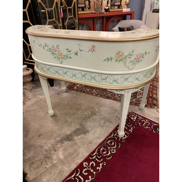 Jasper Cabinet Company Hand Painted Chinoiserie Desk Vanity & Chair For Sale In Richmond - Image 6 of 13