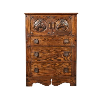 Horse Motif Cabinet For Sale